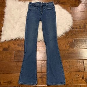Free People Tulip Flare Jeans Size 27 Button Fly